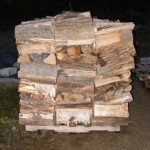 End view of a stable wood pile